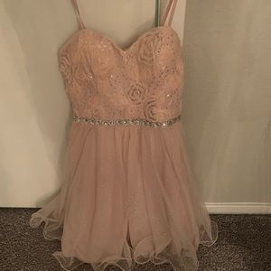 city triangles light pink dress